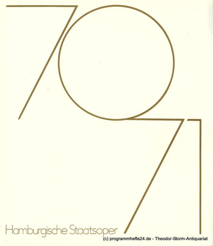 Hamburgische Staatsoper, Rolf Liebermann, Irmagard Scharberth Programmheft Fidelio. Oper von Ludwig van Beethoven. Sonntag, 4. April 1971. Programm der Hamburgischen Staatsoper 5. Heft 1970 / 71