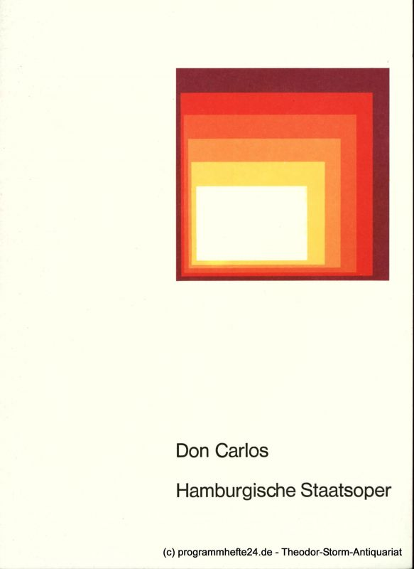 Hamburgische Staatsoper, August Everding Programmheft DON CARLOS. Oper nach Friedrich Schiller. 14. Oktober 1976