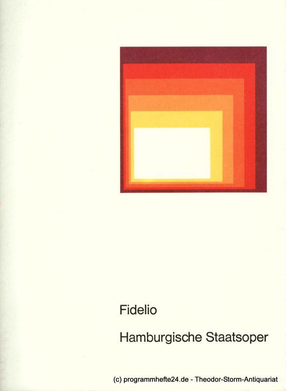 Hamburgische Staatsoper, August Everding Programmheft FIDELIO. Oper von Ludwig van Beethoven. 29. Januar 1977