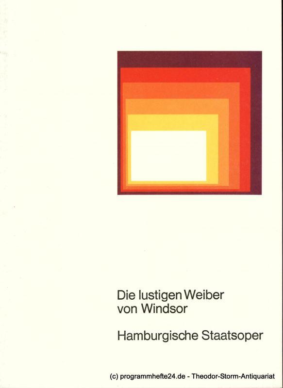 Hamburgische Staatsoper, August Everding Programmheft Die lustigen Weiber von Windsor. 12. November 1976