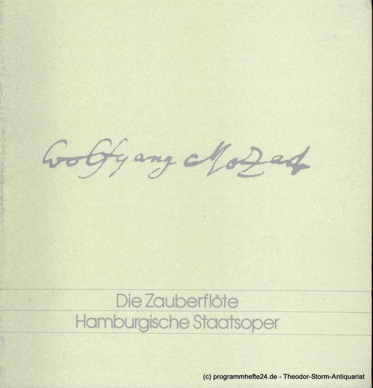 Hamburgische Staatsoper, Christoph von Dohnanyi, Peter Dannenberg Programmheft Die Zauberflöte. Oper von Emanuel Schikaneder