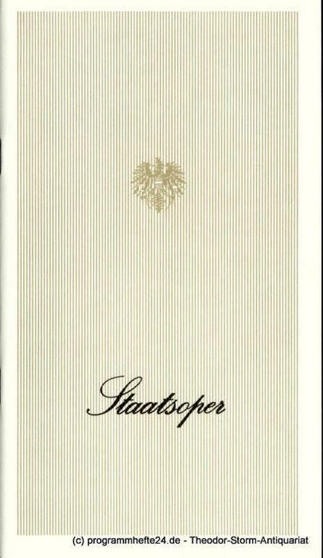 Österreichischer Bundestheaterverband, Direktion der Staatsoper Wien, Lothar Knessl Programmheft Die Zauberflöte. Staatsoper Wien Spielzeit 1974 / 75. Premiere 30. November 1974