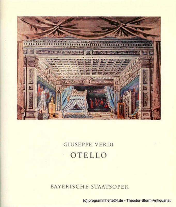 Bayerische Staatsoper, Klaus Schultz, Krista Thiele Programmheft OTHELLO von Giuseppe Verdi. Premiere 31. Oktober 1977. Spielzeit 1977 / 78