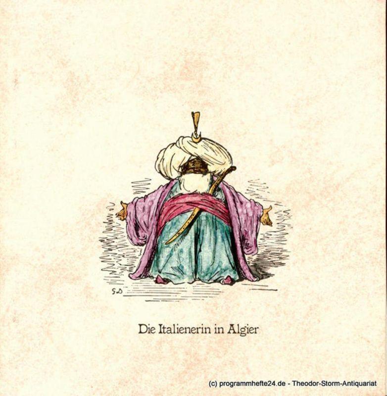 Hamburgische Staatsoper, Christoph von Dohnanyi, Peter Dannenberg, Jochem Wolff, Holger Klembt Programmheft zur Premiere Die Italienerin in Algier am 8. März 1980