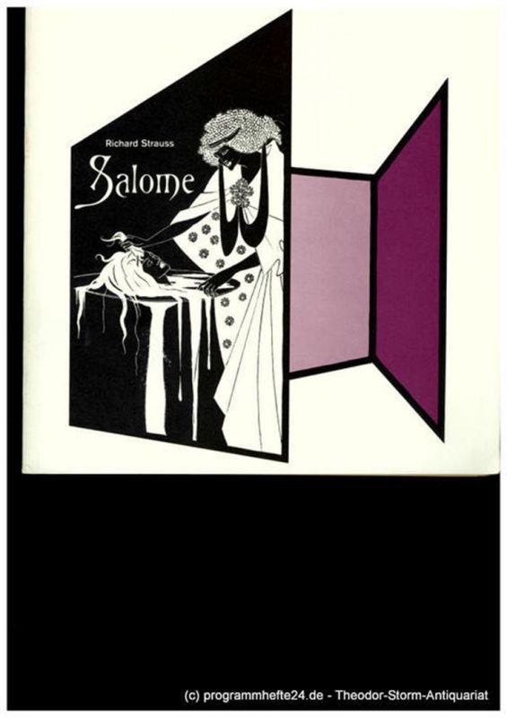 Niedersächsische Staatstheater Hannover, Günter Roth Programmheft SALOME. Musikdrama von Richard Strauss. 2. Juni 1980
