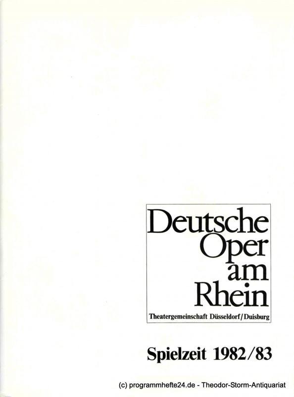 Deutsche Oper am Rhein, Theatergemeinschaft Düsseldorf-Duisburg, Grischa Barfuss, Rolf Trouwborst, Ilka Kügler Programmheft Der Rosenkavalier von Richard Strauss. 3. Januar 1983