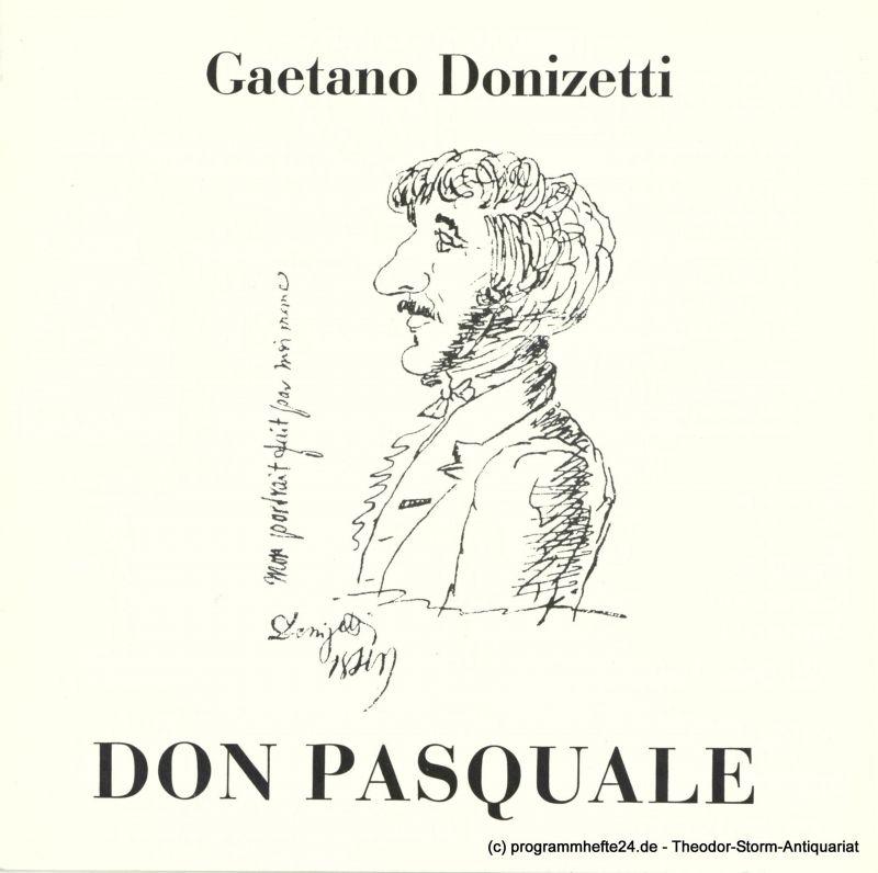 Frankfurter Oper Programmheft DON PASQUALE. Programmheft 5 der Spielzeit 1973 / 74