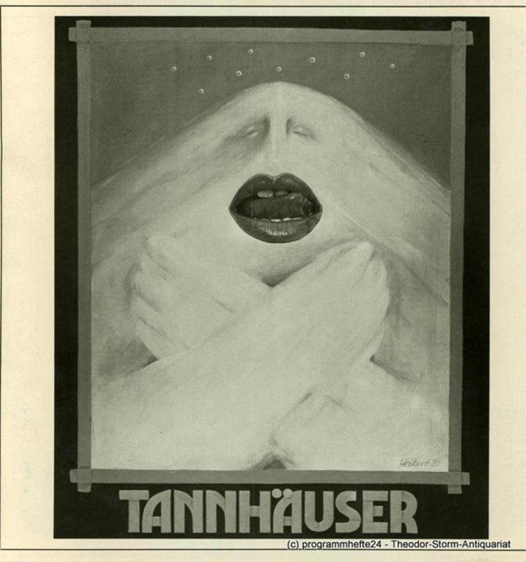 Theater der Stadt Gütersloh, Günter Ochs, Landestheater Detmold Programmheft Tannhäuser und der Sängerkrieg auf der Wartburg. Premieren 3. und 16.12. 1980