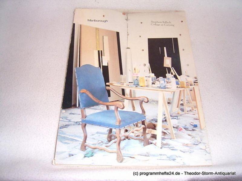 Marlborough Gallery Stephen Edlich. Collage as Carving. September 22 - October 21, 1978 Marlborough Gallery Inc. New York