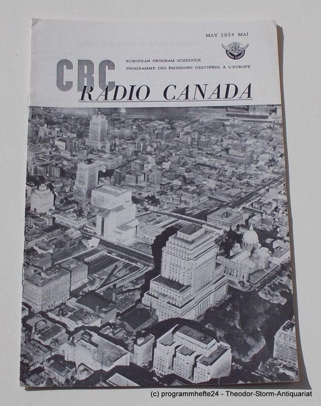 Canadian Broadcasting Corporation Programmheft CBC European Program Schedule RADIO CANADA MAY 1954