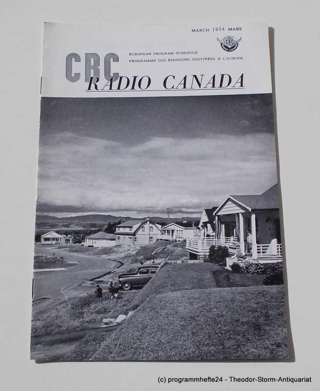 Canadian Broadcasting Corporation Programmheft CBC European Program Schedule RADIO CANADA MARCH 1954