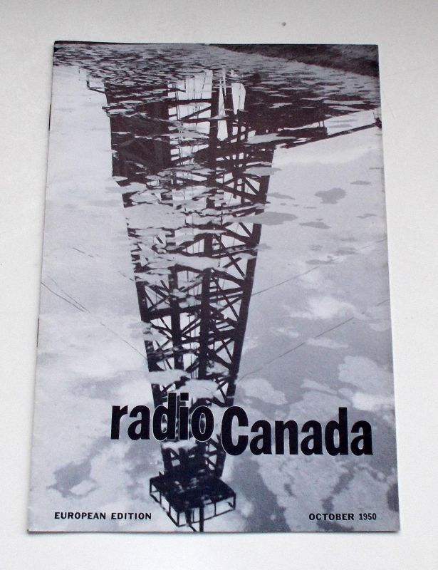 Canadian Broadcasting Corporation Programmheft radio Canada European Edition October 1950