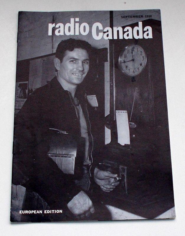 Canadian Broadcasting Corporation Programmheft radio Canada European Edition September 1950