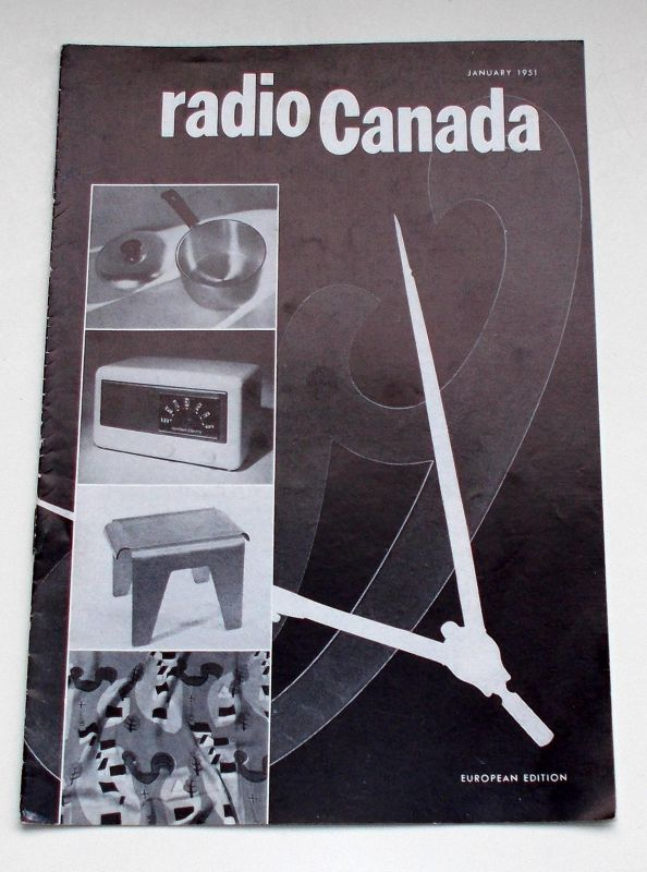 Canadian Broadcasting Corporation Programmheft radio Canada European Edition January 1951