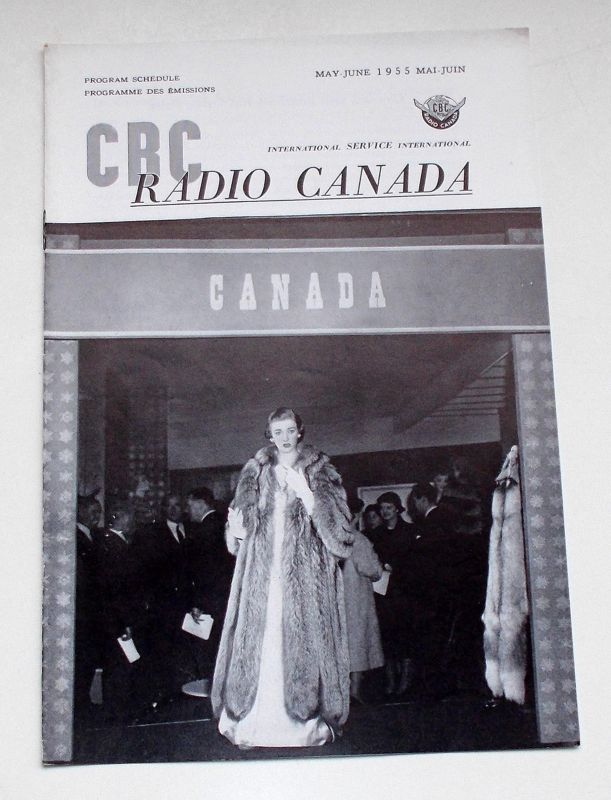 Canadian Broadcasting Corporation Programmheft CBC Radio Canada International Service. Program Schedule May-June 1955