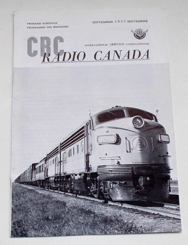 Canadian Broadcasting Corporation Programmheft CBC Radio Canada International Service. Program Schedule September 1955