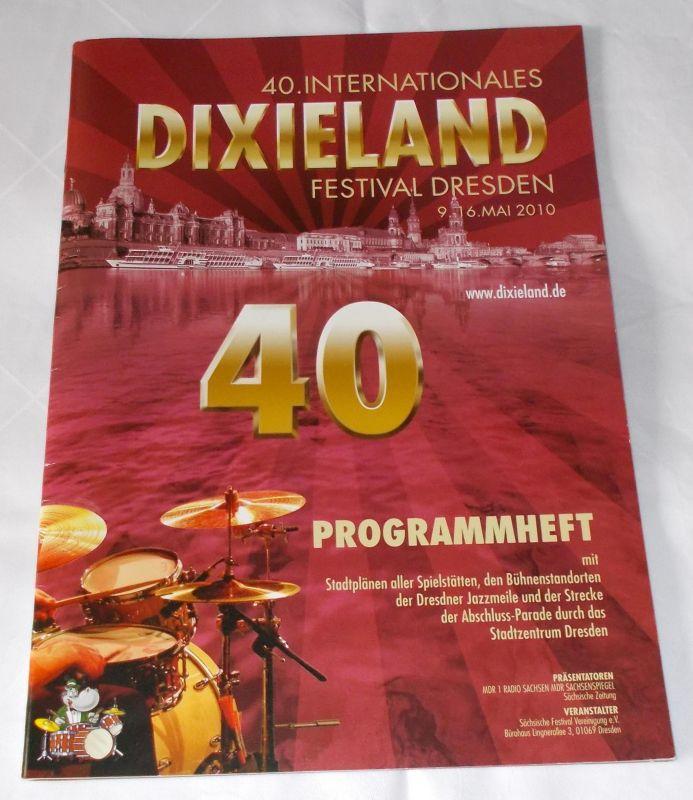 Sächsische Festival Vereinigung, Joachim Schlese, Steffen Kiefer Programmheft 40. Internationales Dixieland Festival Dresden 9.-16. Mai 2010