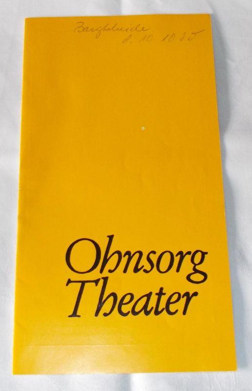 Ohnsorg Theater, Konrad Hansen Programmheft Hamborger Beer. Lustspiel von Heinrich Behnken
