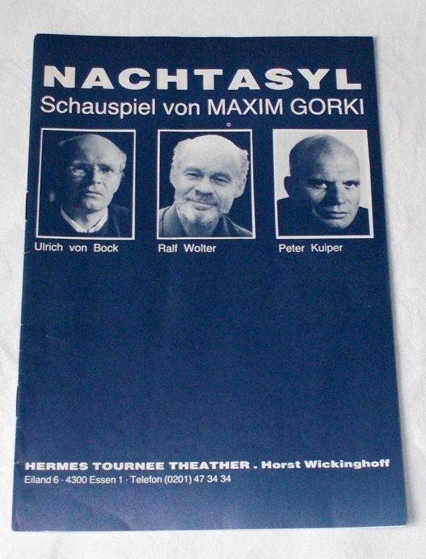 Hermes Tournee Theater Horst Wickinghoff Programmheft Nachtasyl. Schauspiel von Maxim Gorki 1986