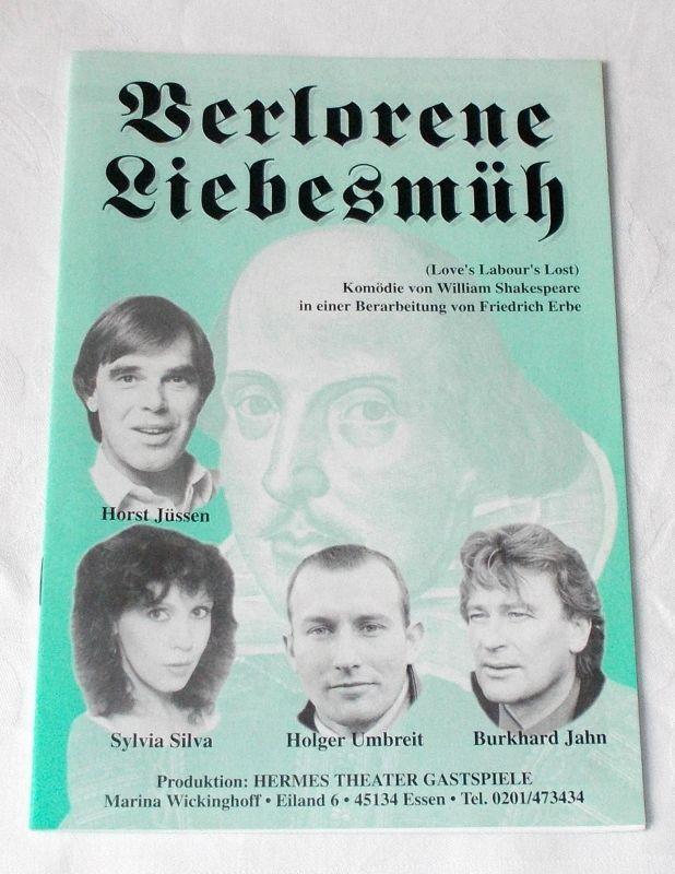 Hermes Theater Gastspiele Marina Wickinghoff Programmheft Verlorene Liebesmüh. Komödie von William Shakespeare 1997
