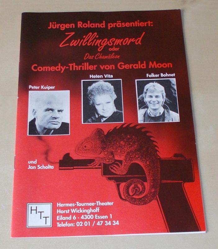 Hermes Tournee Theater, Horst Wickinghoff, Jürgen Roland Programmheft Jürgen Roland präsentiert: Zwillingsmord oder Das Chamäleon