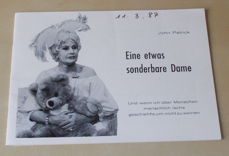 Kleines Theater Bad Godesberg, Walter Ullrich, Astrid Carstensen Programmheft Eine etwas sonderbare Dame. Komödie von John Patrick
