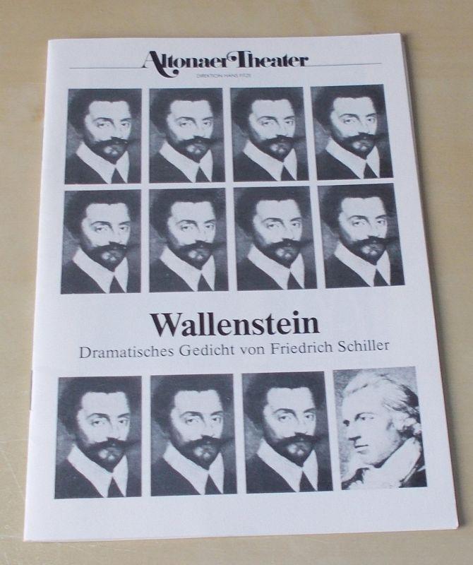 Altonaer Theater, Hans Fitze Programmheft WALLENSTEIN. Dramatisches Gedicht von Friedrich Schiller. Programmheft 7 Spielzeit 1989 / 90