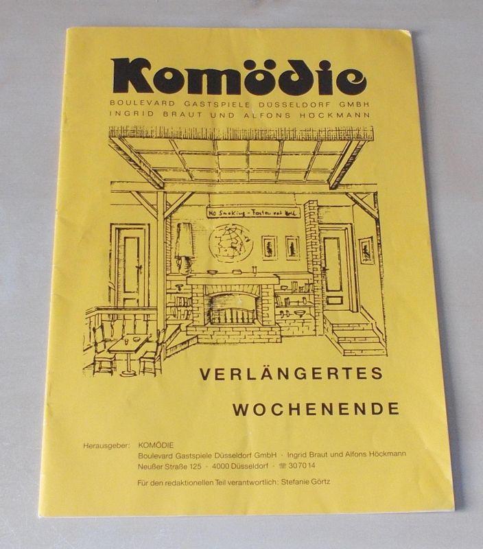 Boulevard Gastspiele Düsseldorf, Ingrid Braut und Alfons Höckmann, Stefanie Görtz Programmheft Verlängertes Wochenende von Curth Flatow 1993