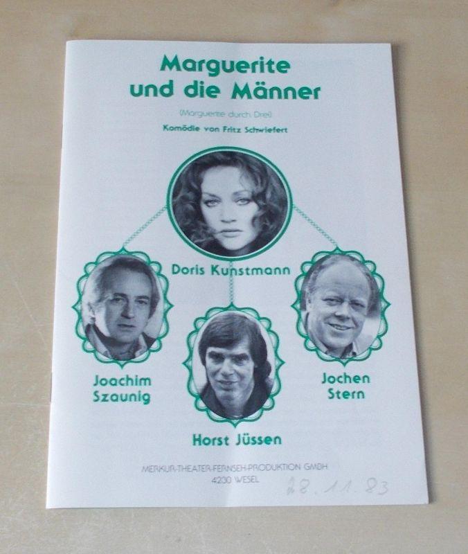 Merkur Theater Fernseh Produktion Programmheft Marguerite und die Männer. Komödie von Fritz Schwiefert.
