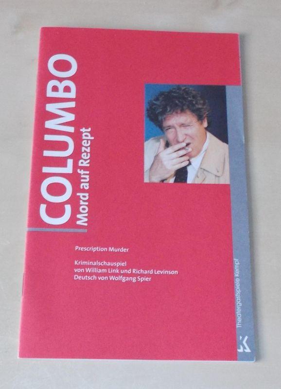 Theatergastspiele Kempf, Margrit Kempf Programmheft COLUMBO. Mord auf Rezept. Spielzeit 2002 / 2003