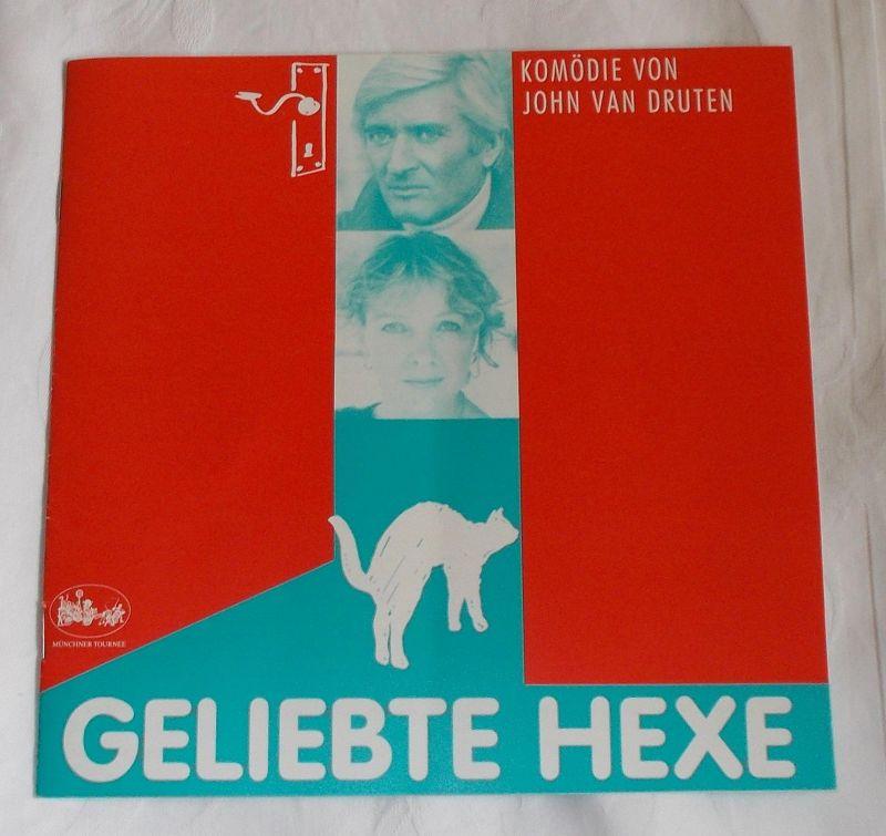 Münchner Tournee Margit Bönisch Programmheft Geliebte Hexe ( Bell, Book and Candle ). Komödie von John van Druten