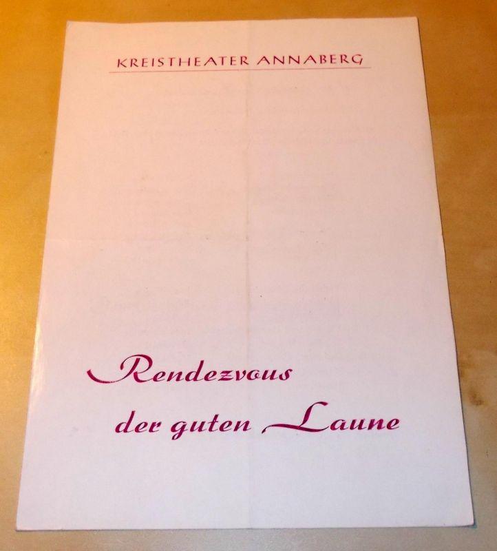 Kreitheater Annaberg, Roland Gandt, Hans-Georg Keferstein Programmheft Rendezvous der guten Laune. Spielzeit 1974 / 75 Heft 10
