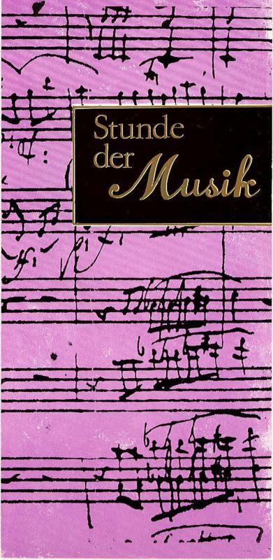 Konzert- und Gastspieldirektion Karl-Marx-Stadt Programmheft Stunde der Musik. Manfred Scherzer / Jürgen Schröder