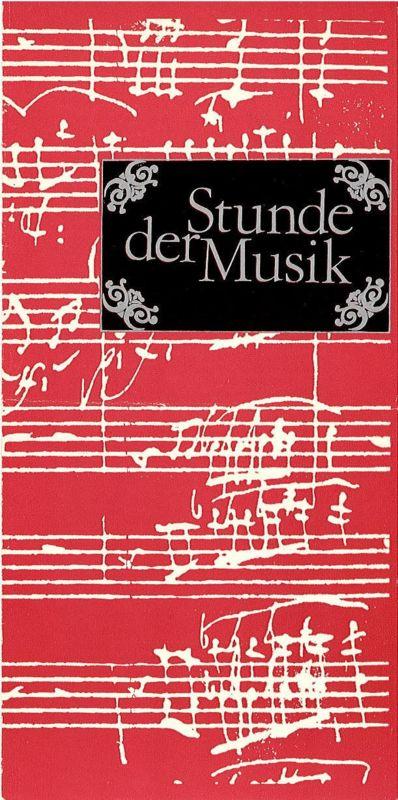 Konzert- und Gastspieldirektion Karl-Marx-Stadt Programmheft Stunde der Musik. Amadeus Webersinke 1983