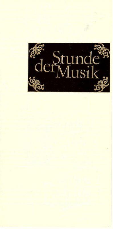 Konzert- und Gastspieldirektion Karl-Marx-Stadt Programmheft Stunde der Musik. Rameau - Trio 1979