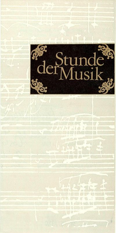 Konzert- und Gastspieldirektion Karl-Marx-Stadt Programmheft Stunde der Musik. Familie Erben musiziert. 5-fach signiert