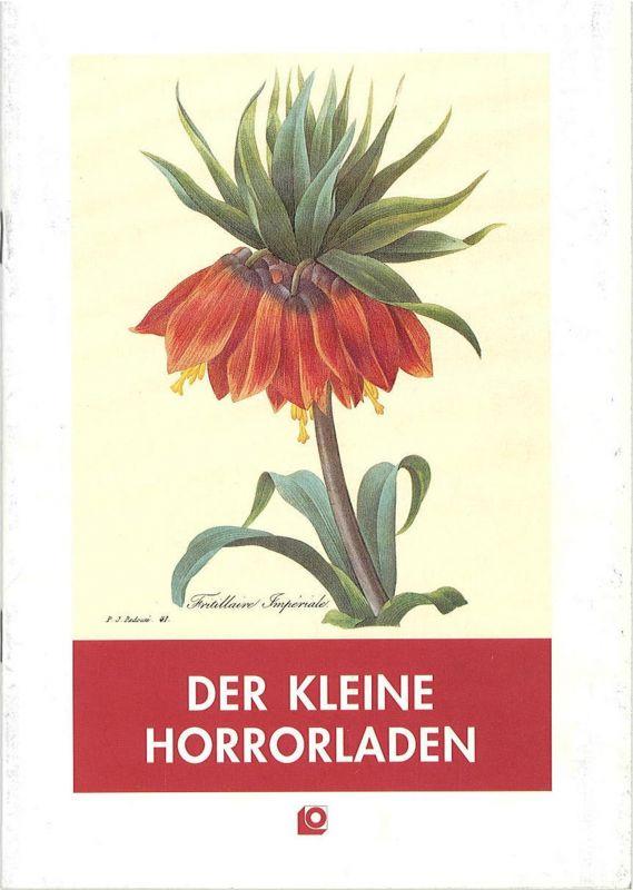 Oldenburgisches Staatstheater, Hans Häckermann, Ludwig Brundiers Programmheft Der kleine Horrorladen ( Little Shop of Horrors ). Premiere 2. Oktober 1992 im Großen Haus. Spielzeit 1992 / 93