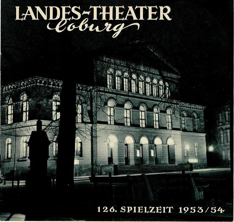 Landes-Theater Coburg, Curt Wahl Programmheft Die vier Grobiane. 126. Spielzeit 1953 / 54 Heft 20