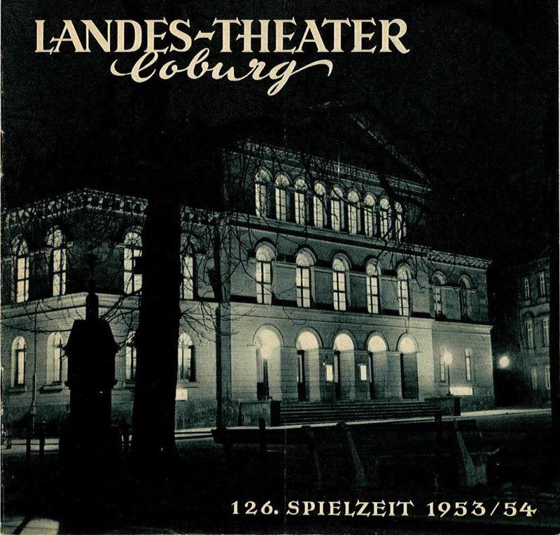 Landes-Theater Coburg, Curt Wahl Programmheft TOWARISCH Komödie von Jacques Deval 126. Spielzeit 1953 / 54 Heft 29