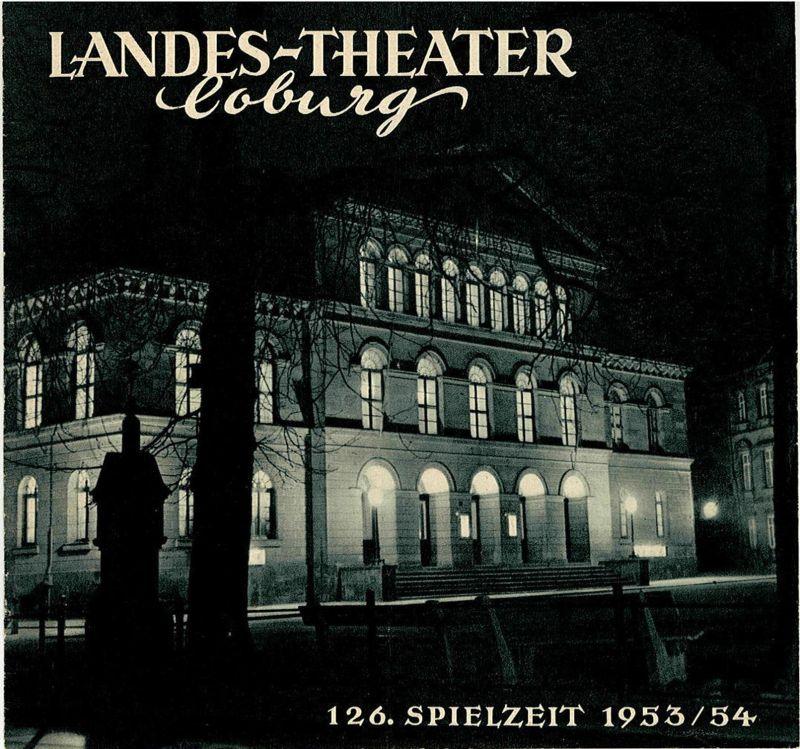 Landes-Theater Coburg, Curt Wahl Programmheft Bei Anruf - Mord ( Dial M for murder ) 126. Spielzeit 1953 / 54 Heft 27
