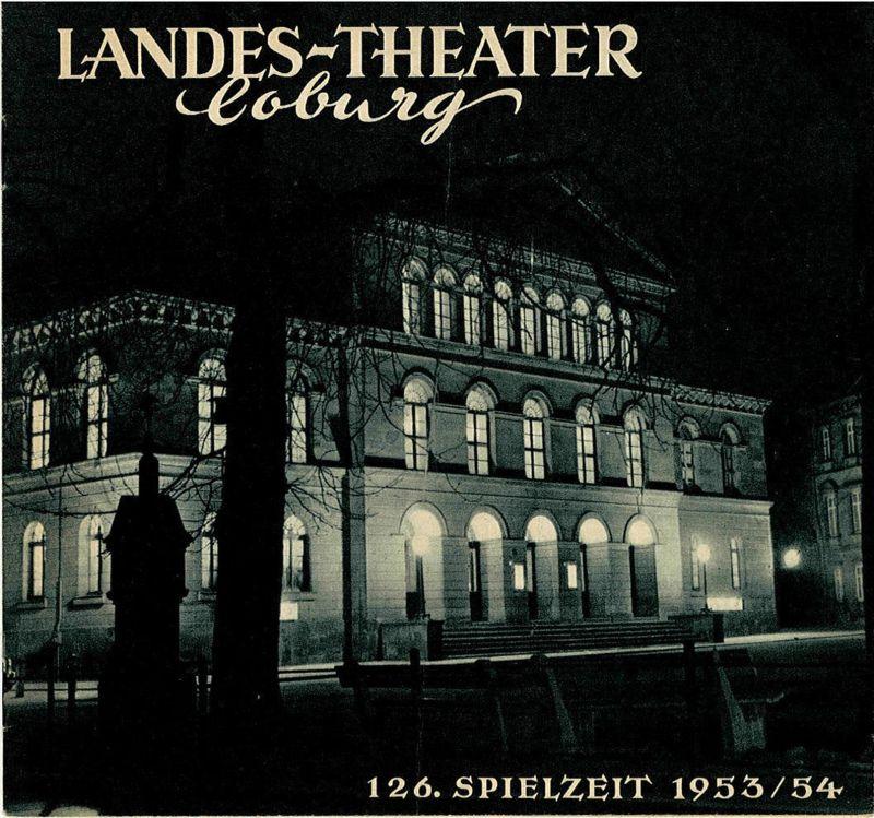 Landes-Theater Coburg, Curt Wahl Programmheft Die lustigen Weiber von Windsor 126. Spielzeit 1953 / 54 Heft 15