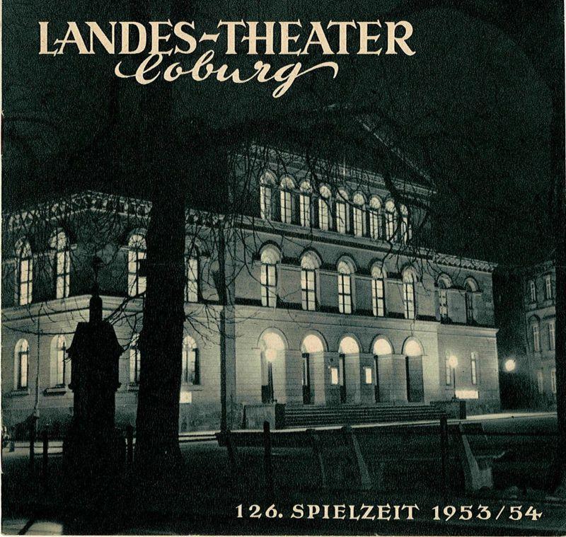 Landes-Theater Coburg, Curt Wahl Programmheft Uraufführung Das Bild der Venus 126. Spielzeit 1953 / 54 Heft 8