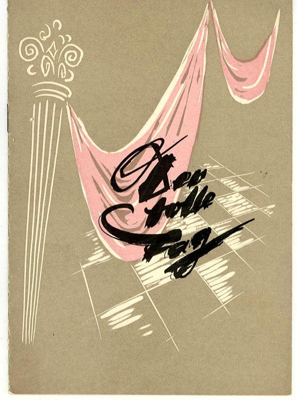 Theater der jungen Garde, Halle, Willi Schrader Programmheft Der tolle Tag oder Figaros Hochzeit. Spielzeit 1955 / 57 Heft 2