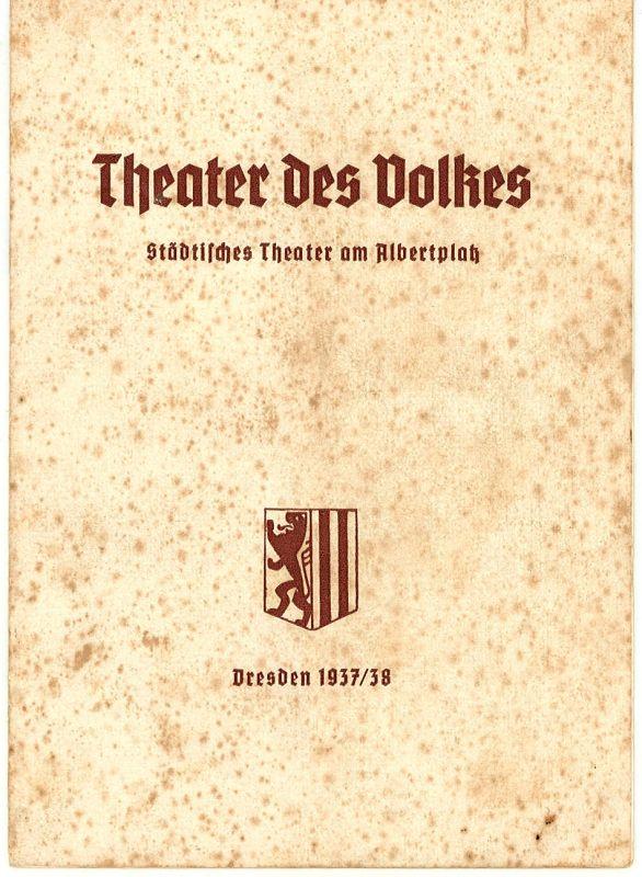 Theater des Volkes, Städtisches Theater am Albertplatz, Dresden, Max Eckhardt Programmheft Land des Lächelns. Neufassung. Operette von Franz Lehar