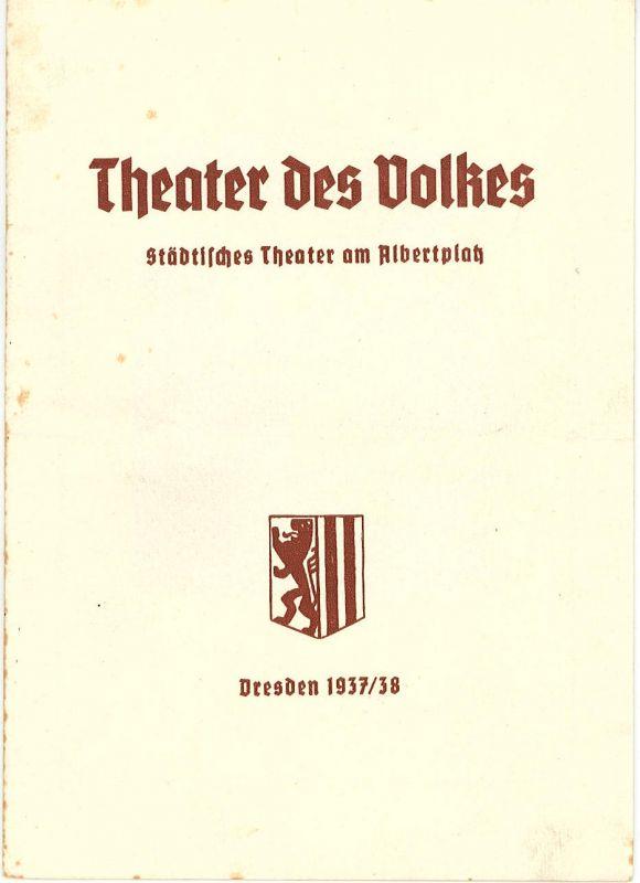 Theater des Volkes, Städtisches Theater am Albertplatz, Dresden, Max Eckhardt Programmheft Monika. Operette von Hermann Hermecke