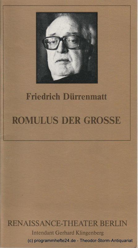 Renaissance-Theater Berlin, Gerhard Klingenberg, Lothar Ruff Programmheft Romulus der Grosse. Heft 5, 8. Mai 1993