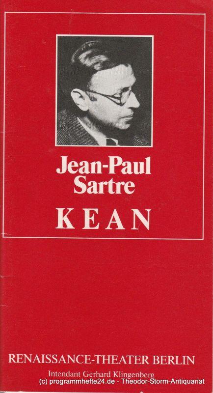 Renaissance-Theater Berlin, Gerhard Klingenberg, Lothar Ruff Programmheft KEAN von Jean-Paul Sartre. Heft 1, 8. September 1986