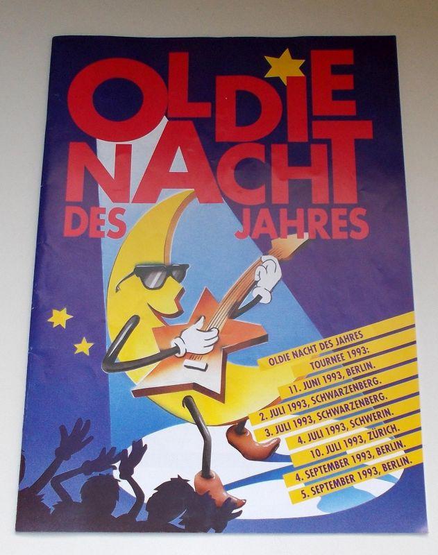 Concert Concept Berlin, Peter Schwenkow, Ute Möller, Rainer Haas Programmheft OLDIE NACHT DES JAHRES 1993