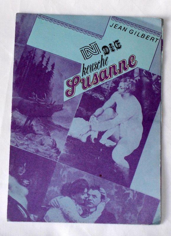 Deutsches Nationaltheater Weimar Programmheft Die keusche Susanne. Premiere am 19. Februar 1988