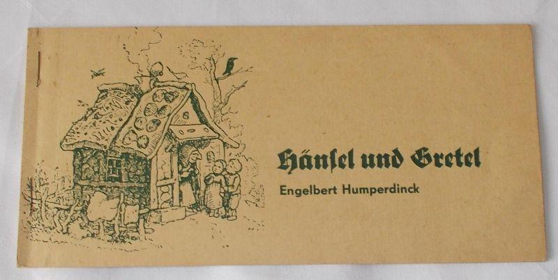 Stadttheater Freiberg, Sabine Grosse, Walter Fritzsche, Günter Klinger Programmheft Hänsel und Gretel von Engelbert Humperdinck Spielzeit 1972 / 73